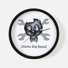 Chicks dig speed Wall Clock