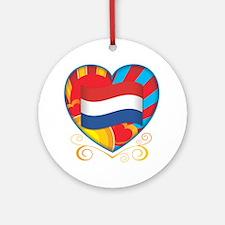 Dutch Heart Ornament (Round)