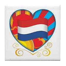 Dutch Heart Tile Coaster
