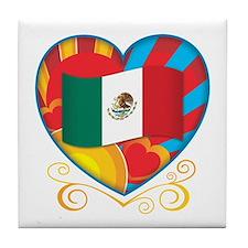 Mexican Heart Tile Coaster