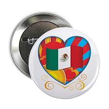 """Mexican Heart 2.25"""" Button"""