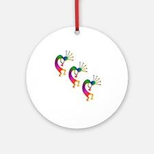 Three Kokopelli #33 Ornament (Round)
