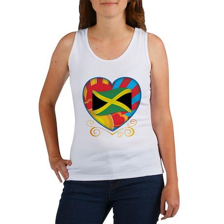 Jamaican Heart Women's Tank Top
