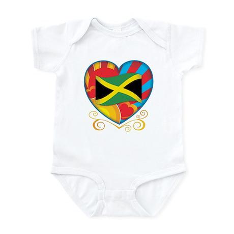 Jamaican Heart Infant Bodysuit