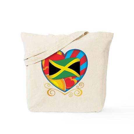 Jamaican Heart Tote Bag
