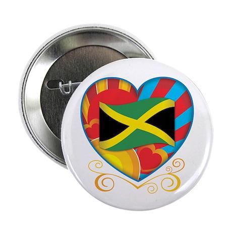 """Jamaican Heart 2.25"""" Button (10 pack)"""