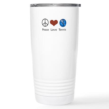 Peace Love Tennis Stainless Steel Travel Mug