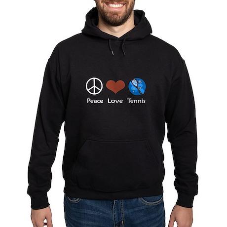 Peace Love Tennis Hoodie (dark)