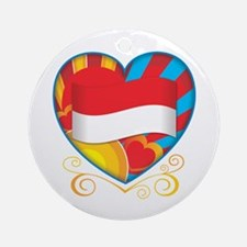 Indonesian Heart Ornament (Round)