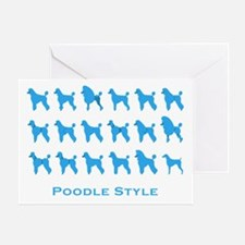 Poodle Style: Blue Greeting Card