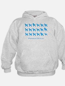 Poodle Style: Blue Hoodie