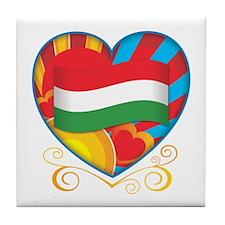 Hungarian Heart Tile Coaster