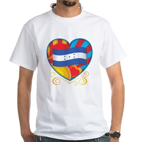 Honduran Heart White T-Shirt