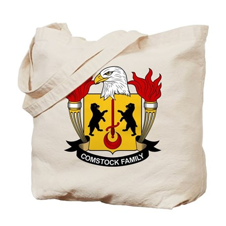 Comstock Family Crest Tote Bag