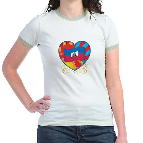 Haitian Heart Jr. Ringer T-Shirt