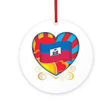 Haitian Heart Ornament (Round)