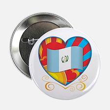 """Guatemalan Heart 2.25"""" Button"""
