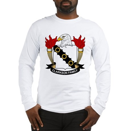 Clarkson Family Crest Long Sleeve T-Shirt