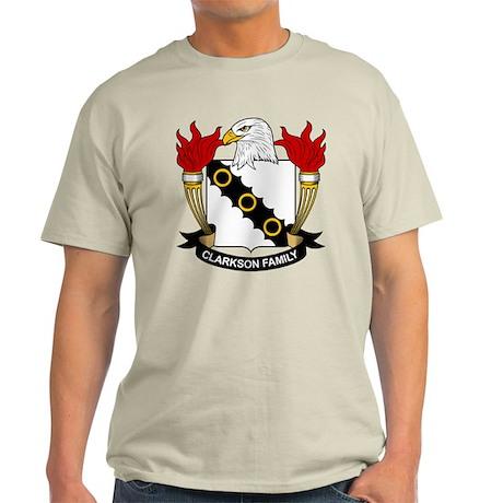 Clarkson Family Crest Light T-Shirt