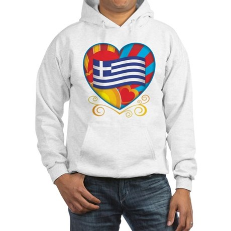 Greek Heart Hooded Sweatshirt
