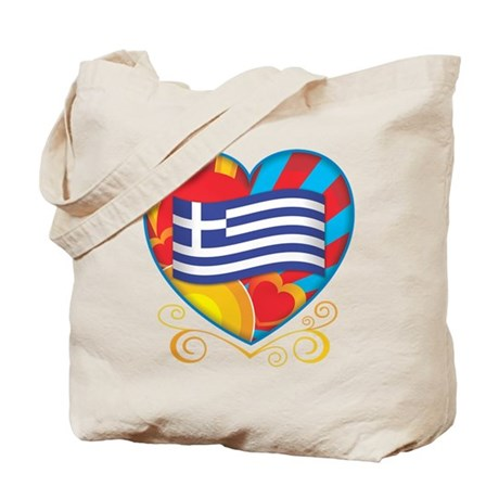 Greek Heart Tote Bag