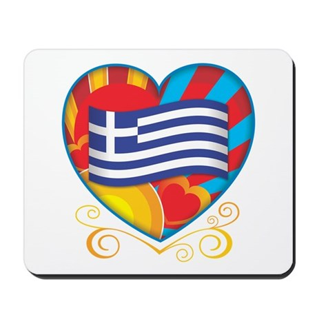 Greek Heart Mousepad