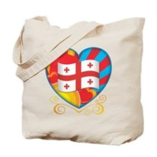 Georgian Heart Tote Bag