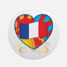 French Heart Ornament (Round)