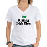 Kissing Irish Girls Women's V-Neck T-Shirt