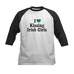 Kissing Irish Girls Kids Baseball Jersey