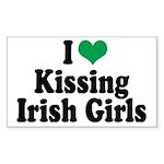 Kissing Irish Girls Rectangle Sticker 10 pk)