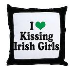 Kissing Irish Girls Throw Pillow