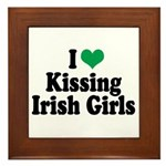 Kissing Irish Girls Framed Tile