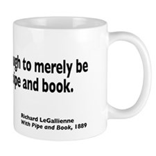 With Pipe and Book Mug