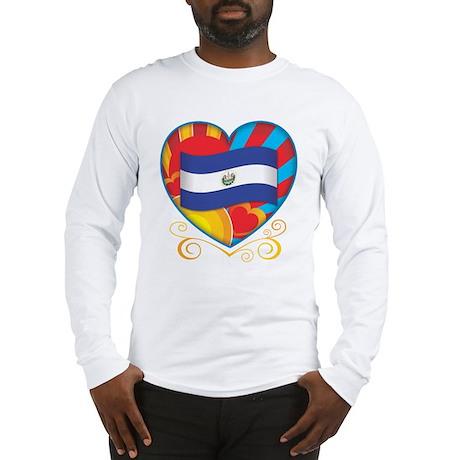 Salvadoran Heart Long Sleeve T-Shirt