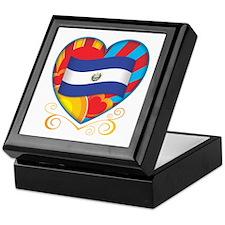 Salvadoran Heart Keepsake Box