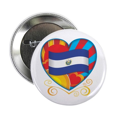 "Salvadoran Heart 2.25"" Button"
