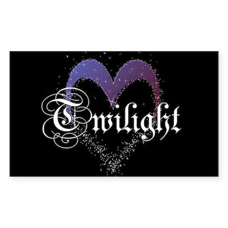 Twilight Sparkle Heart Rectangle Sticker