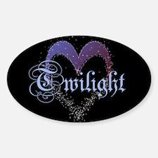Twilight Sparkle Heart Oval Decal