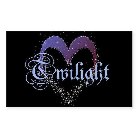 Twilight Sparkle Heart Rectangle Sticker 10 pk)