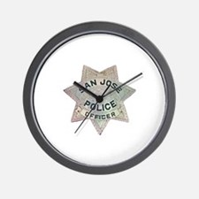 San Jose Police Wall Clock