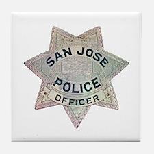 San Jose Police Tile Coaster