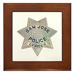 San Jose Police Framed Tile