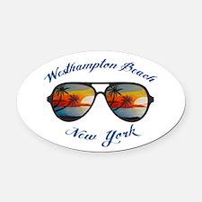 New York - Westhampton Beach Oval Car Magnet