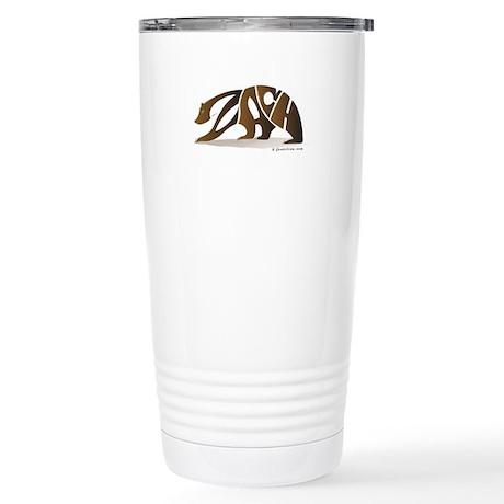Zach (Brown Bear) Stainless Steel Travel Mug