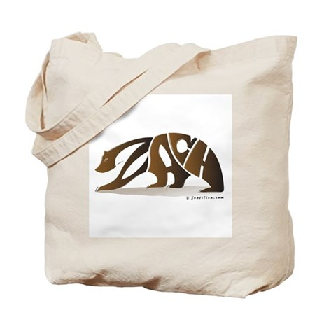 Zach (Brown Bear) Tote Bag