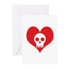 Heart and Skull Greeting Cards (Pk of 10)