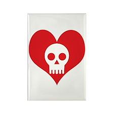 Heart and Skull Rectangle Magnet