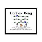 Donkey Bong Framed Panel Print