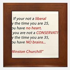 Conservatism Framed Tile